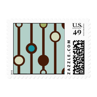 Funky Retro Custom Postage Stamp Design