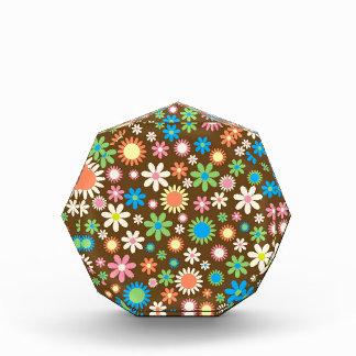 Funky Retro Daisy Flowers Acrylic Award