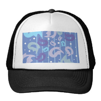 Funky Retro Flame Background Trucker Hat