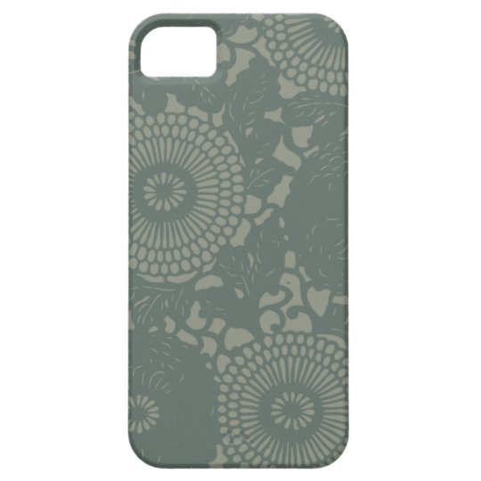 Funky Retro Floral Abstract Design iPhone SE/5/5s Case