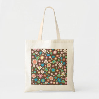 Funky Retro Floral Tote Bag