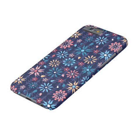 Funky retro flowers vintage barely there iPhone 6 case