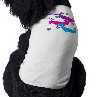 Funky retro fun basset hound dog pet clothing