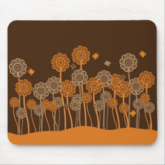 Funky retro garden mouse mat mouse pad