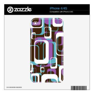 Funky Retro Geometric Pattern Skin For iPhone 4S