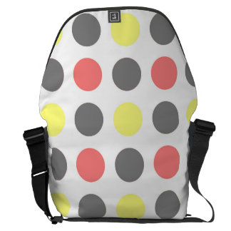 Funky Retro Giant Polkadot Pattern Messenger Bag