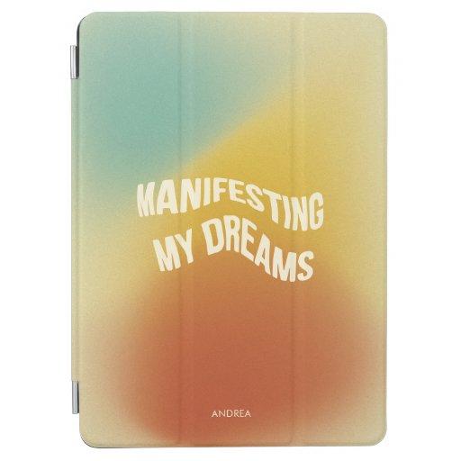 Funky Retro Grainy Gradient Texture Manifestation iPad Air Cover