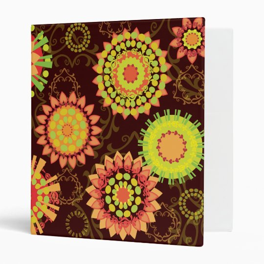 Funky Retro Mod Abstract Pattern Binder