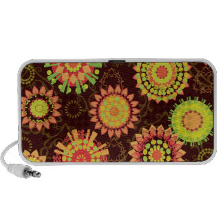 Funky Retro Mod Abstract Pattern Doodle Travel Speaker