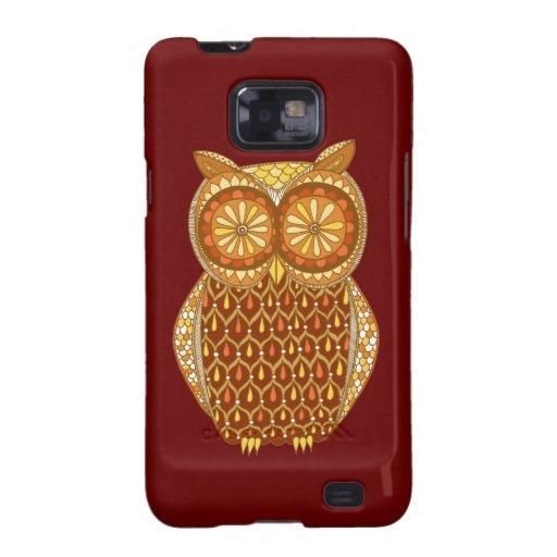 Funky Retro Owl Abstract Samsung Galaxy S2 Case