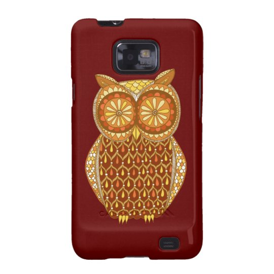 Funky Retro Owl Abstract Samsung Galaxy S2 Case