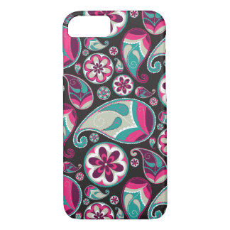 Funky Retro Paisley Pattern iPhone 7 Case