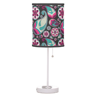 Funky retro paisley pattern table lamps - Table lamps for teens ...