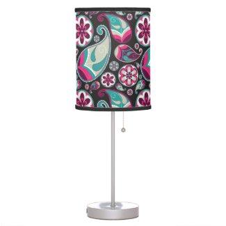 Funky Retro Paisley Table Lamp