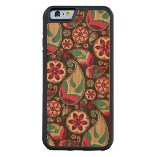 Funky Retro Paisley Pattern Carved® Cherry iPhone 6 Bumper