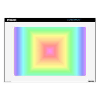 "Funky Retro Pastel Rainbow Geometric Squares Blur 15"" Laptop Skin"