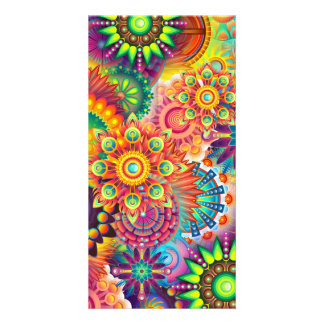 Funky Retro Pattern Abstract Bohemian Card