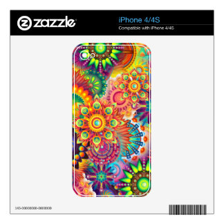 Funky Retro Pattern Abstract Bohemian Decals For iPhone 4