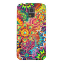 Funky Retro Pattern Abstract Bohemian Galaxy S5 Cover