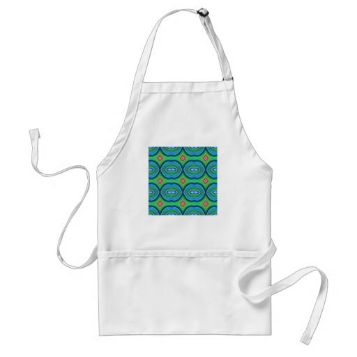 Funky Retro Pattern. Blue, Green, Pink and Multi. Aprons