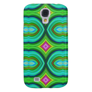 Funky Retro Pern. Green, Turquoise and Multi. Galaxy S4 Case