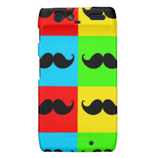 Funky Retro Pop Art Mustache Moustache Stache Motorola Droid RAZR Cover