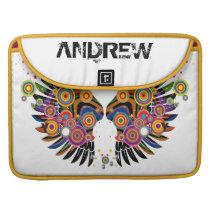 funky retro pop wings sleeve for MacBooks
