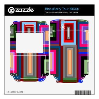 Funky retro rainbow squares skin for BlackBerry tour