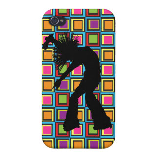 Funky Retro Singer Dancer iPhone 4 Covers