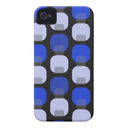 Funky Retro Square Polkadots iPhone 4 Cases