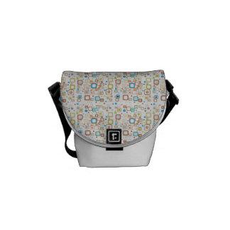 Funky Retro Squares Messenger Bag