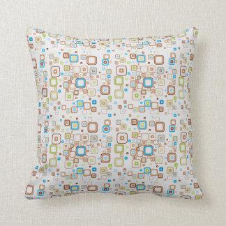 Funky Retro Squares Pillow