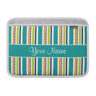 Funky Retro Stripes and Spots MacBook Air Sleeve