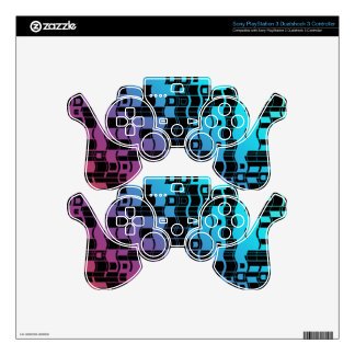 funky retro style PS3 controller decal