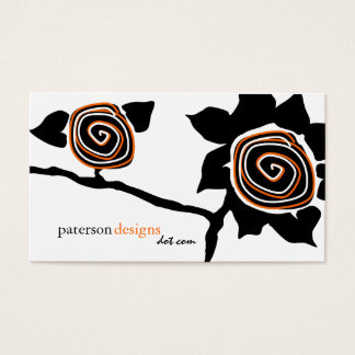 Funky Retro Sunflower Business Cards