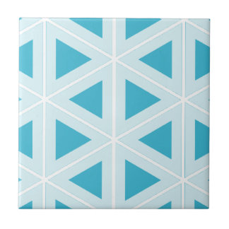 funky retro triangles ceramic tile