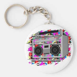 FUNKY RETRO VINTAGE  80s TAPE PLAYER Keychain