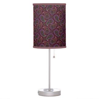 Funky Retro Vintage Paisley Table Lamp