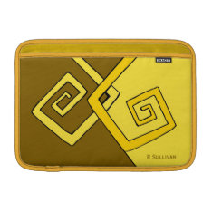 Funky Retro Yellow Lines Air Sleeve 11 H at Zazzle