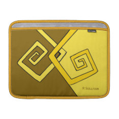 Funky Retro Yellow Lines Air Sleeve 13 H at Zazzle