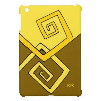 Funky Retro Yellow Lines Brown Savvy iPad Mini iPad Mini Case