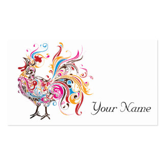 Funky Rooster Double-Sided Standard Business Cards (Pack Of 100)