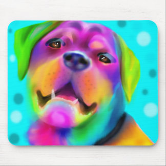 Funky Rottweiler Mouse Pad