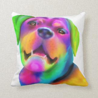 Funky Rottweiler Throw Pillow