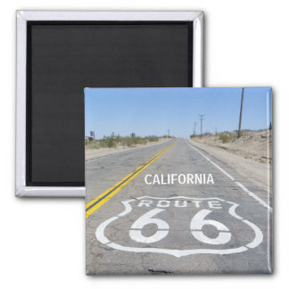 Funky Route 66 Magnet! 2 Inch Square Magnet