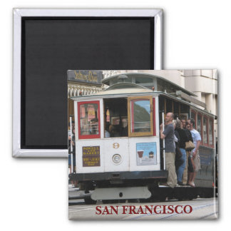 Funky San Francisco Magnet! 2 Inch Square Magnet