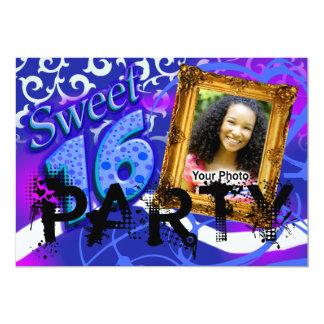 Funky Sassy Sweet 16 Photo Party Invitation