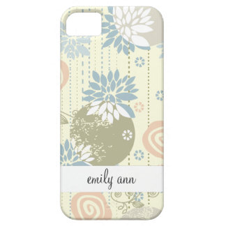 Funky Screen Print Flowers in Pastel Colors iPhone 5 Case