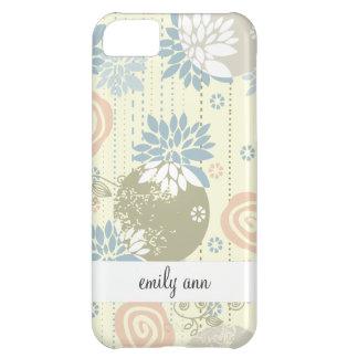 Funky Screen Print Flowers in Pastel Colors iPhone 5C Case
