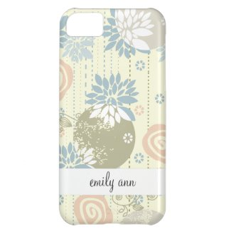 Funky Screen Print Flowers in Pastel Colors Cover For iPhone 5C